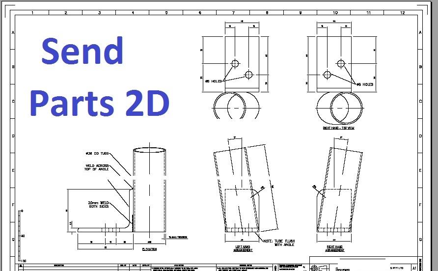 send parts 2D