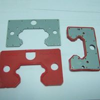 Red soft plastics TPU with silver metal