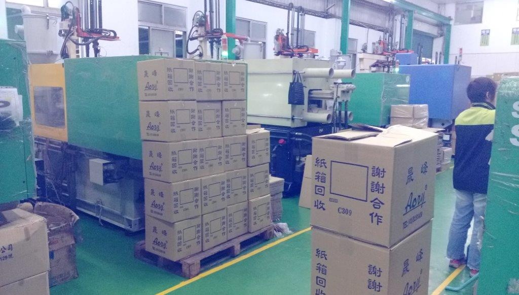 plastic mold factory with goods