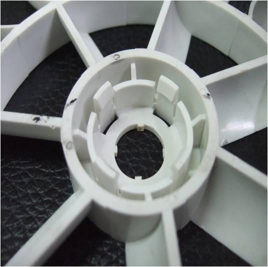 Plastic fan molding