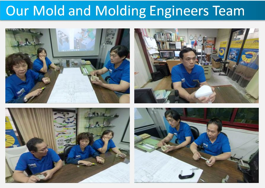 Our mold and molding engineers team